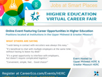 Higher Education Virtula Job Fair