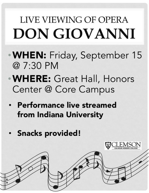 "Opera, ""Don Giovanni,"" live streaming from Indiana University"