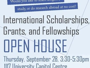 International Scholarships, Grants, and Fellowships Open House