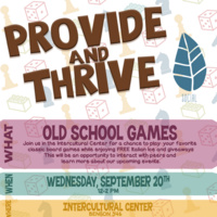 Provide and Thrive: Old School Games