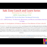 Safe Zone Lunch and Learn Series
