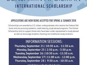 Gilman Scholarship Info Session promotional image
