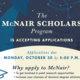 McNair Scholar Open House + Application Opening