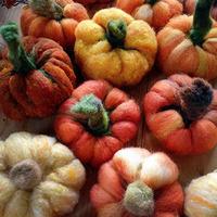 Needle Felting Pumpkins