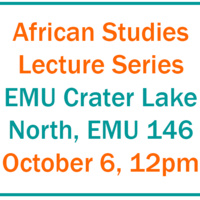 African Studies Lecture Series - A Pre-History of Zoonotic Outbreaks in Southeastern Cameroon
