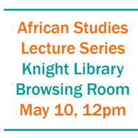 African Studies Lecture Series - The New African Diaspora Writer and the Idea of a Convivial Humanity