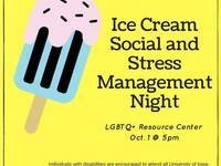 Ice Cream Social and Stress Management