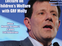 Nicholas Kristof Lecture on Children's Welfare with GRF Molly
