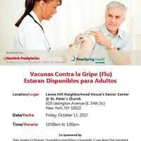 Flu Vaccines for Adults at Lenox Hill Neighborhood House's Senior Center @ St. Peter's Church