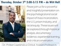 Safety and Psyches: The Mind on Mass Incarceration - Dr. Phillippe Copeland