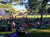 Outdoor Yoga on the Pentacrest