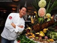 Artful food carving by Celebrity Chef James Parker