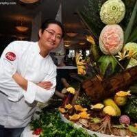 Artful food carving by Celebrity Chef James Parker