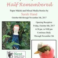 Half Remembered, Paper Mache' and Mixed Media Stories by Sarah Hand - Exhibit & Sale