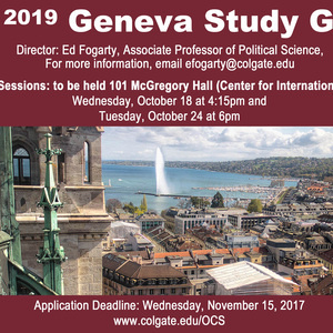 Spring 2019 Geneva Study Group Info Session