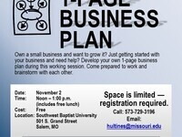 1-Page Business Plan Lunch & Learn