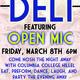 Open Mic Night at the Deli Shabbat