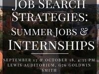 Job Search Strategies: Summer Jobs and Internships
