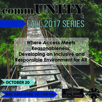 commUNITY Dialogue: Where Access Meets Reasonableness
