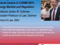 Special Lecture in CHEME 6676 - Energy Markets and Regulation