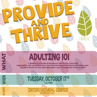 Provide & Thrive: Adulting 101