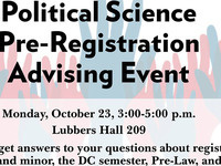 Political Science Pre-Registration Meeting