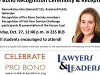 Pro Bono Recognition Ceremony & Reception