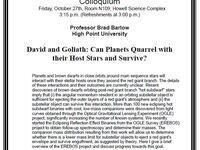 Physics Colloquium!-Professor Brad Barlow