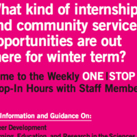 Weekly One Stop Drop-In Hours with Staff Members