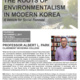 The Roots of Environmentalism in Modern Korea: A Vehicle for Social Renewal