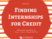 Finding Internships for Credit MeetUp