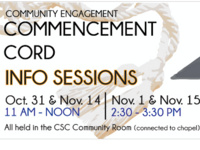 Community Engagement Commence Cord Info Session