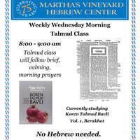 Weekly Morning Talmud Class