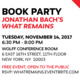 """Book Party: Jonathan Bach's """"What Remains"""""""