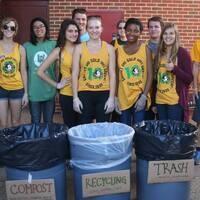 Composting at Parents' Weekend!