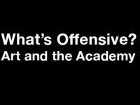 What's Offensive? Art and the Academy: featuring Idris Goodwin, Daisy McGowan, Aisha Ahmad-Post & Kevin Landis