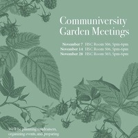 Communiversity Garden Meeting
