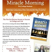 Presentation and Book Signing with alumna Natalie Janji, author of The Miracle Morning for College Students
