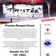 Flyer for Premier Passport Event