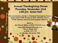 Free Thanksgiving Dinner for TU Students, Staff and Faculty