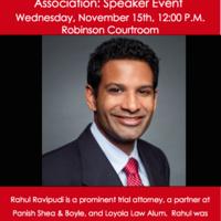 Speaker Series-Rahul Ravipudi