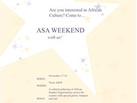 African Student Associations: Cultural Weekend