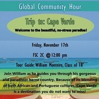 Global Community Hour: Trip to Cape Verde