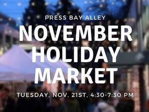 Press Bay Alley November Holiday Market