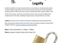 ResearchGate, SciHub, and Beyond: Sharing Scholarly Work Legally