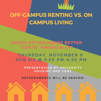 Off-Campus Renting vs. On Campus Living