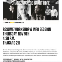 Resume Workshop and Info Session