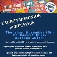 Carbon Monoxide Screenings