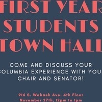 First Year Students Town Hall