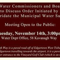 Edgartown Water Department & Board of Health: Fluoridating Town Water